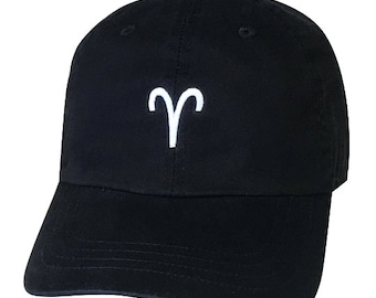 ARIES Dad Hat   Horoscope   Zodiac Sign Hat   First Sign   Aries The Ram   March 21st-April 19th   Horoscope Sign   Constellation   Dad Caps