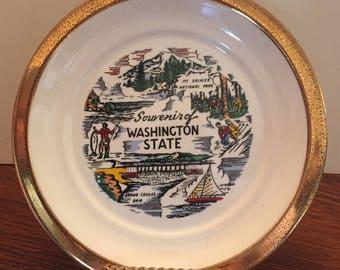 Vintage Washington Decorative Souvenir Plate