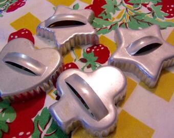 fun aluminum vintage cookie cutters