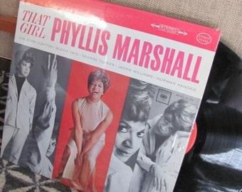 "Vintage 50's ""That Girl Phyllis Marshall"" with Buck Clayton, Buddy Tate, George Tucker Record Album - 50's Album - 50's Music"