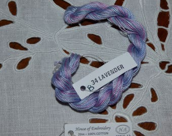 Beaded 12 House of embroidery collar 34 B LAVENDER n