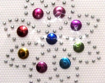 Rhinestone Crystal fusible patch * 5 x 5 cm * flower ROSETTE star - Applique iron-on