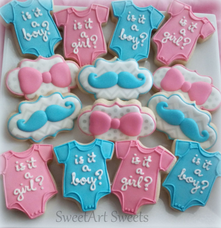 Baby shower Cookies baby cookies gender reveal cookies 1