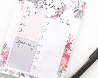 Exclusive Twilight Floral To Do Notepad