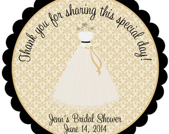 Wedding Sticker Wedding Favor Tags Bridal Shower Stickers Bridal Shower Favor Stickers