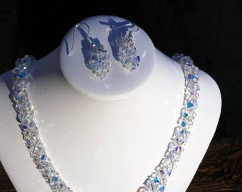 Swarovski Crystal V shaped necklace