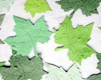 Flower Seed Paper Maple Leaves - Wedding Greenery - Spring Plantable Paper Leaf Wedding Favors - Woodland Garden Wedding - Leaf Place Cards