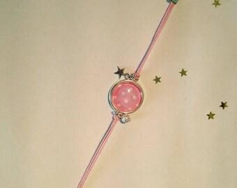 Jewelry Bracelets Support Cabochon polka dot & charms
