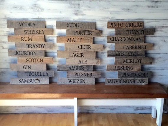 Pub Sign Brewery Art Craft Beer Bar Sign Wood Signs