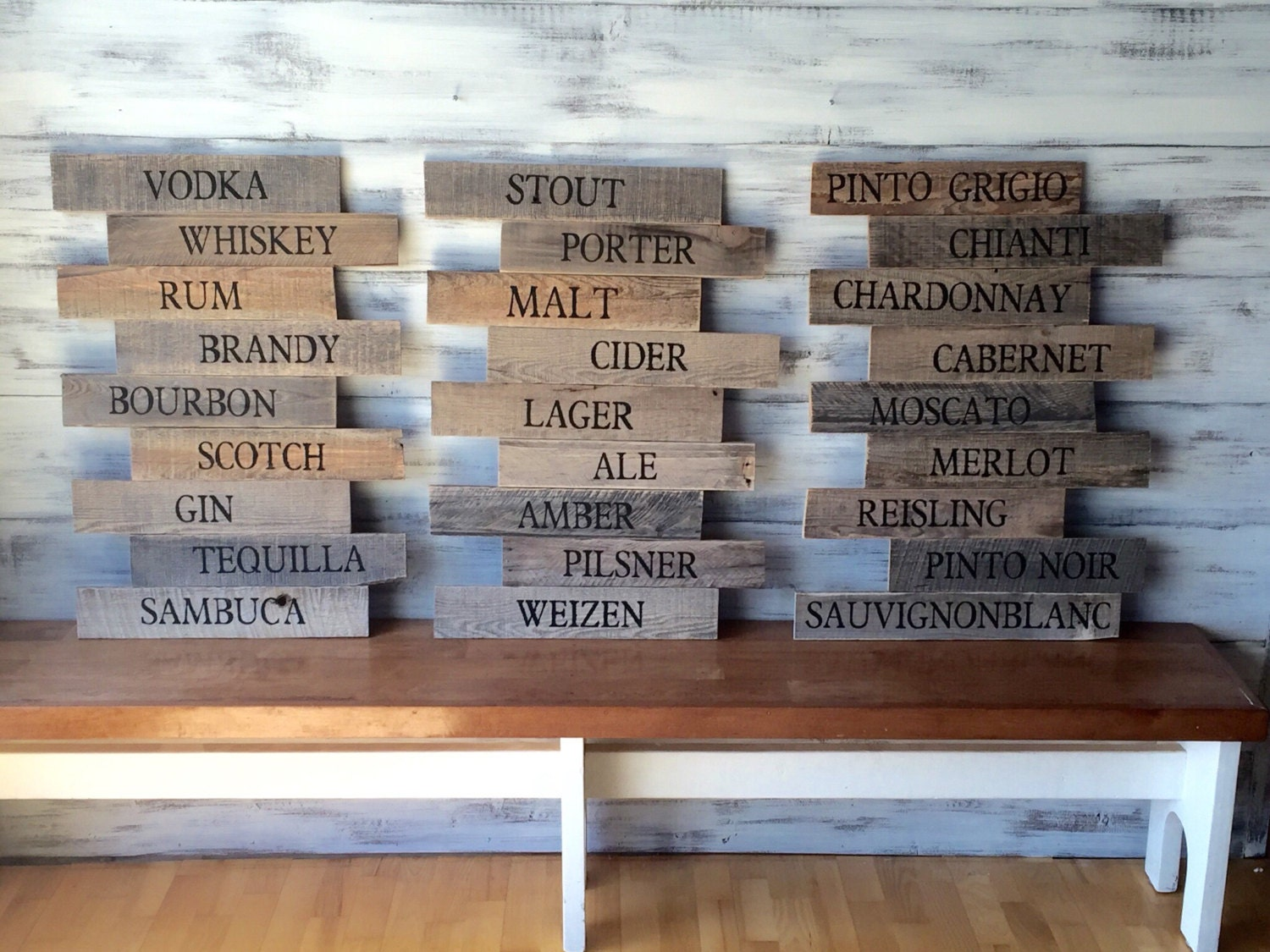 Reclaimed Wood Pub Sign Brewery Art Craft Beer Wood Wall