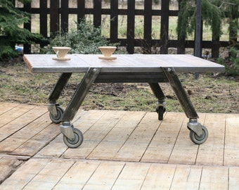 Wooden and metal loft coffee table Robo