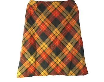 1960s Wool Blend zplaid Skirt Size XS/S
