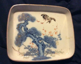 SAVE 25% WITH CODE: SAVE25 Vintage Japanese Art Ceramic Ashtray - Unmarked