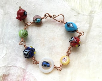 Copper Wire Eye Bracelet