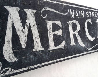 Old Mercantile Wood Sign - HandCrafted Rustic Wooden Kitchen Decor
