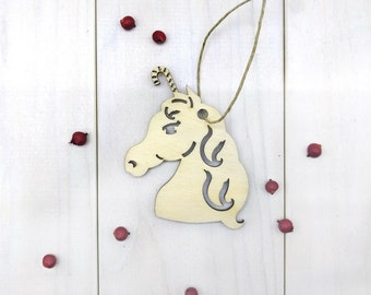 Unicorn Christmas Ornament, Stocking Stuffer, Gifts Under 10, Gift for Her, Gift for Him, Gift for Girlfriend, Gift for Wife, Husband Gift