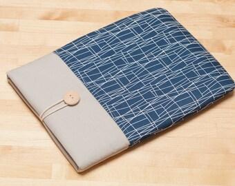 Kindle Paperwhite case / kindle case / Kobo Aura sleeve / kindle voyage case - Web navy