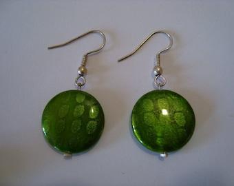 Simple Stud Earrings Green