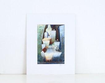 Manhattan - SMALL PRINT, New York City Art, Cityscape, Illustration, Buildings, street, Wall decoration, Ready to hang