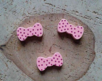 Pink bow Pearl wood