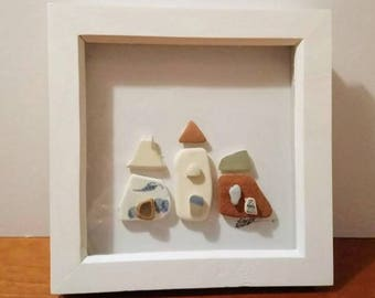 Beach pottery picture.  Cottages