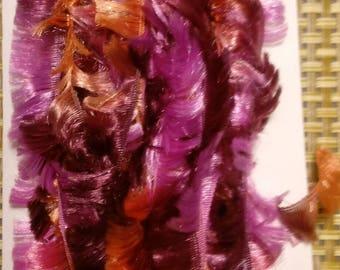 Eyelash Trim. Purple and Orange Ombre