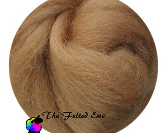 Needle Felting Wool Roving / DR52 Autumn Gold Carded Wool Roving