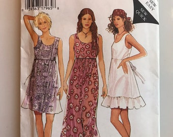 90s grunge alterna-girl babydoll style dress pattern