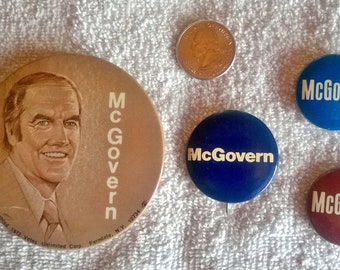 McGovern Campaign Buttons (vintage lot of four)