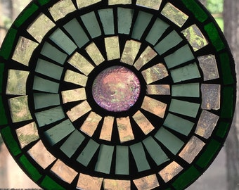 Stained glass mosaic Suncatcher