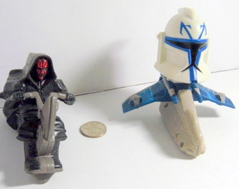 """Pair Star Wars  fast food toy.  McDonalds.    Early 1990s.  About 4"""".    Good condition."""