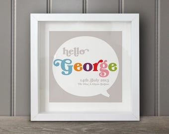 Personalised name print – speech bubble
