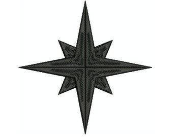 Machine Embroidery Design Instant Download - Compass Star 2