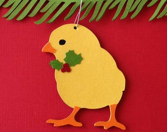 Chick Christmas tree ornament