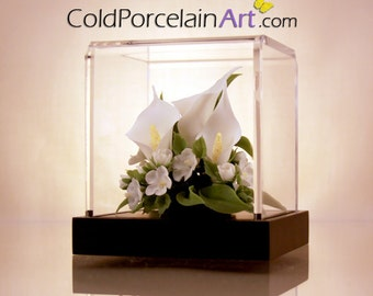 White Calla Lilies - ColdPorcelainArt - Made to Order - Featured on ETSYLUSH