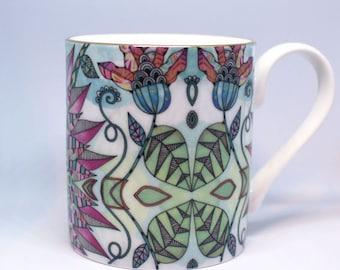 Fine china Mug – Passion Flower / Gift