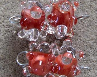 BHG  Red coral waterdrop pair