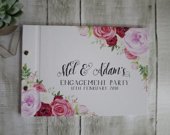 Mel's Florals | Personalised Custom Made Guestbook | Wedding | Engagements | Parties | Australia Seller