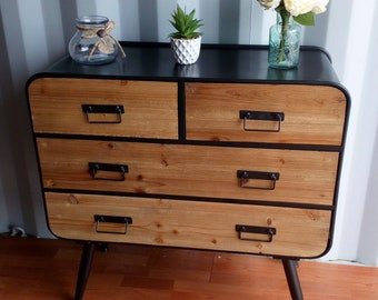 Vintage Retro Industrial Recycled Drawer Unit