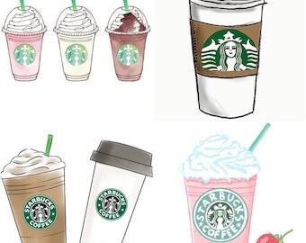 Starbucks Sticker Sheet