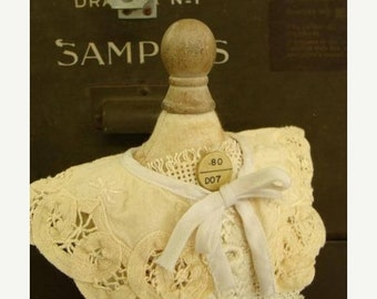 ONSALE Vintage Small Doll Handmade Lace Collar Downton Abbey