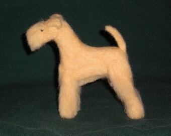 Lakeland Terrier needle felted dog example custom made to order