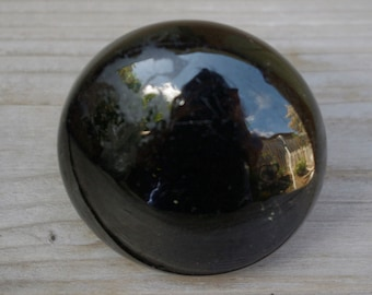 Vintage Black Porcelain Door Knob