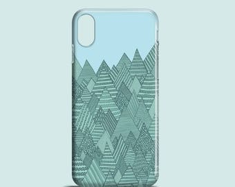 Spring Forest / mountains phone case / iPhone X, iPhone 8, iPhone 7 Plus, iPhone SE, iPhone 6S, iPhone 6, iPhone 5/5S / mountain iPhone case