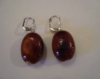 Brown Tube earrings