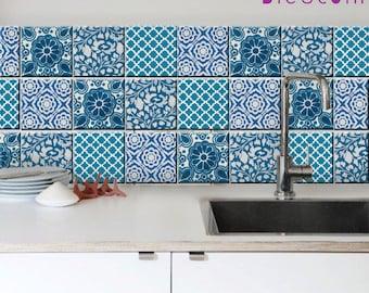Sicilian Tile/ Wall / Floor Kitchen Bathroom Backsplash Decal