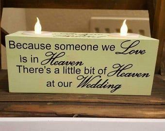 Wedding day memorial candle holder / memorial for wedding / wedding memorial / wedding memorial candle / memorial for wedding /memory candle