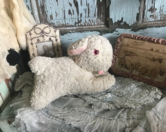 Vintage Loved Stuffed Animal Doll Plush Toy Sheep Lamb