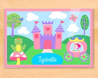 Kids Personalized Princess Placemat, Olive Kids Princess Personalized Placemat, Kids Placemat, Laminated Placemat, Fairytale Placemat, Girls