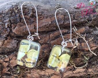Earrings-yellow flowers-resin/earrings